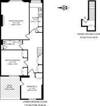 Large floorplan for Eardley Crescent, Earls Court, SW5