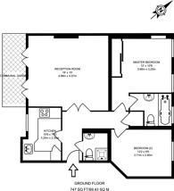 Large floorplan for Elystan Street, Chelsea, SW3