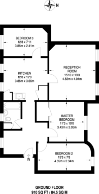 Large floorplan for Swanfield Street, Shoreditch, E2