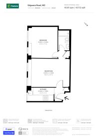 Large floorplan for Park West, Hyde Park Estate, W2