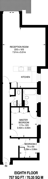Large floorplan for Watermans Quay, Sands End, SW6