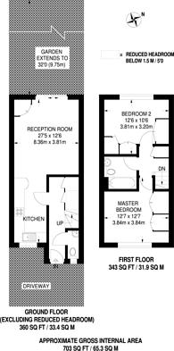 Large floorplan for Thrush Green, Harrow, HA2