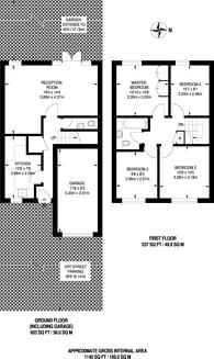 Large floorplan for Cumberland Avenue, Guildford, GU2