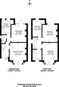 Large floorplan for Longacre Road, Walthamstow, E17