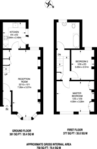 Large floorplan for Oakfield Road, Walthamstow, E17