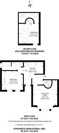 Large floorplan for Woodstock Road, Croydon, CR0
