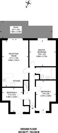 Large floorplan for Anselm Close, East Croydon, CR0