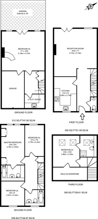 Large floorplan for Massingberd Way, Tooting Bec, SW17