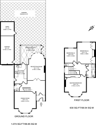 Large floorplan for Trevelyan Gardens, Kensal Rise, NW10