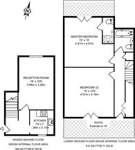 Large floorplan for Barnsbury Park, Angel, N1