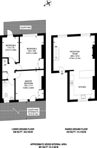 Large floorplan for Mornington Crescent, Camden, NW1