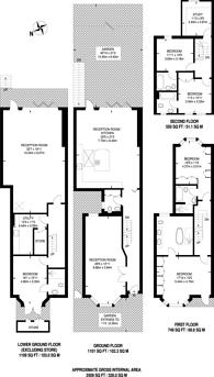 Large floorplan for Ellerby Street, Fulham, SW6