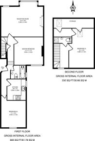 Large floorplan for South Park Road, Wimbledon, SW19
