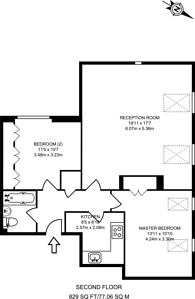 Large floorplan for Carolina Road, Thornton Heath, CR7