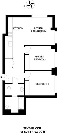 Large floorplan for Junction Road, Archway, N19