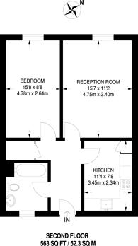 Large floorplan for Tottenham Green East, Tottenham, N15