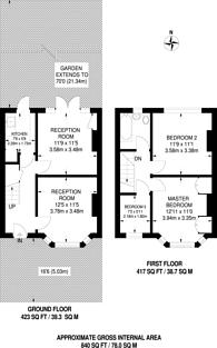 Large floorplan for Arthur Road, Motspur Park, KT3