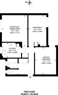 Large floorplan for Churchill Place, Harrow, HA1