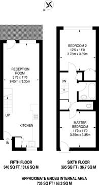 Large floorplan for Berger Road, Homerton, E9