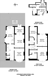 Large floorplan for Hodford Road, Golders Green, NW11