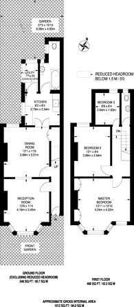 Large floorplan for Kingsley Road, Merton, SW19