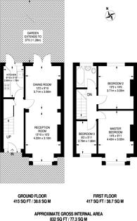 Large floorplan for Fernlea Road, Mitcham, CR4