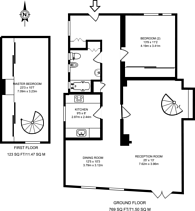 Large floorplan for Manor Fields, Putney, SW15