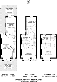 Large floorplan for Lithos Road, South Hampstead, NW3