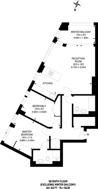 Large floorplan for Ontario point, Surrey Quays Road, Canada Water, SE16