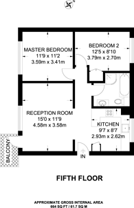 Large floorplan for Studley Road, Stockwell, SW4