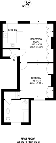 Large floorplan for Fulham Road, Fulham, SW6