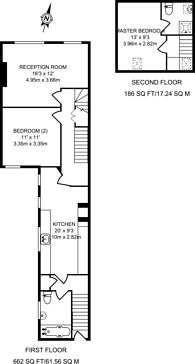 Large floorplan for Selkirk Road, Tooting, SW17