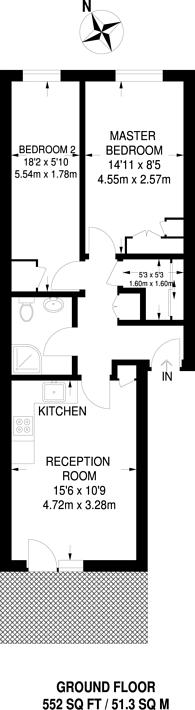 Large floorplan for Burlington Close, Maida Vale, W9
