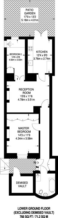 Large floorplan for Alderney Street, Pimlico, SW1V