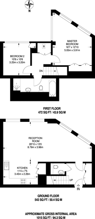 Large floorplan for Hornsey Road, Holloway, N7