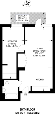 Large floorplan for Victory Parade, Woolwich, SE18