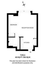 Large floorplan for Junction Road, Archway, N19