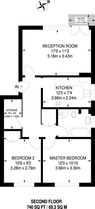 Large floorplan for Canning Road, Croydon, CR0