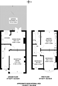 Large floorplan for Waddon Close, Croydon, CR0