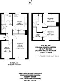 Large floorplan for Gloucester Terrace, Royal Oak, W2