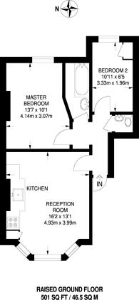 Large floorplan for Stowe Road, Shepherd's Bush, W12