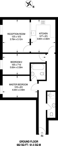 Large floorplan for Chamberlayne Road, Kensal Rise, NW10