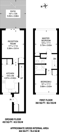 Large floorplan for Ramilles Close, Brixton Hill, SW2