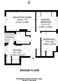 Large floorplan for White Horse Lane, Stepney, E1