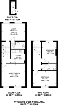 Large floorplan for Brixton Road, Oval, SW9