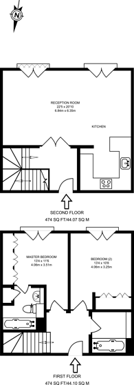 Large floorplan for Millennium Drive, Isle Of Dogs, E14