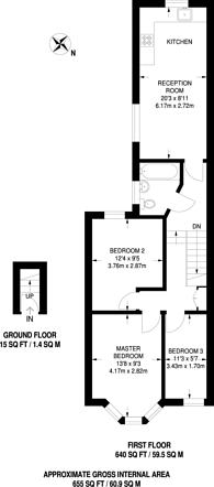 Large floorplan for Green Street, Upton Park, E13