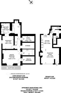 Large floorplan for Charlton Place, Angel, N1