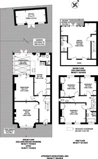 Large floorplan for Coldfall Avenue, Muswell Hill, N10