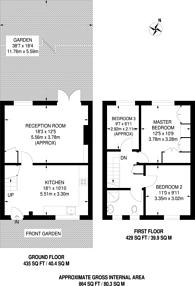 Large floorplan for Stroud Crescent, Putney Heath, SW15